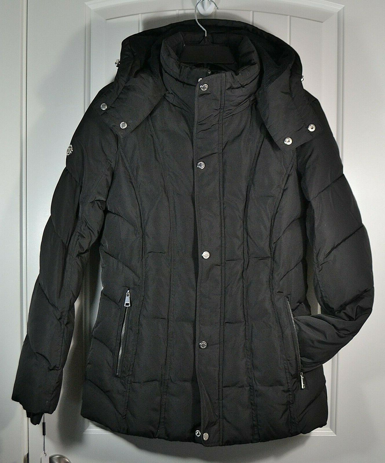 nwt women s black zip hooded jacket