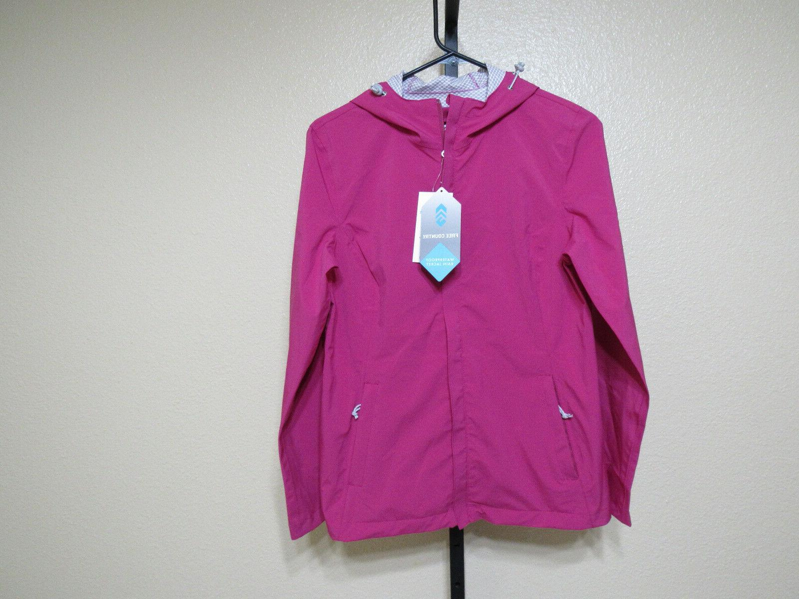 NWT Free Country Womens Packable Waterproof Rain Jacket-Mage