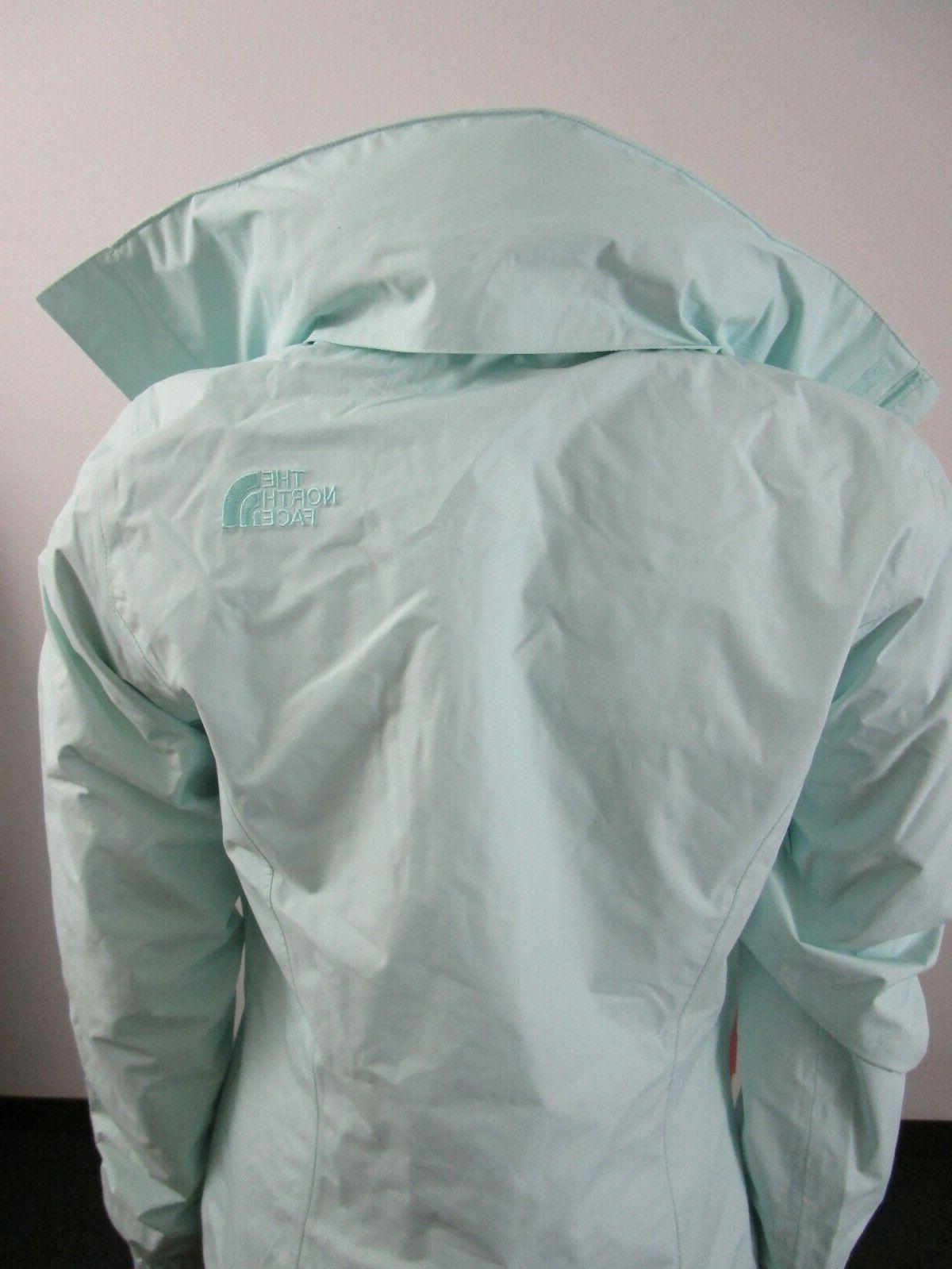 NWT Womens Face Resolve Waterproof Dryvent Rain Jacket Jade