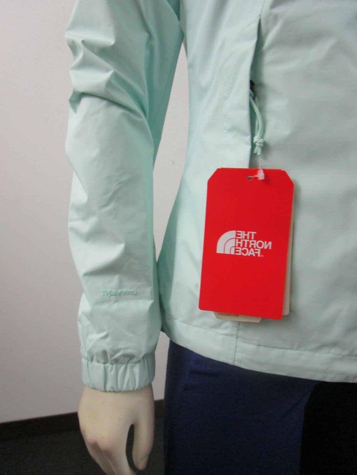 NWT Face Resolve 2 Dryvent Rain Jacket Jade
