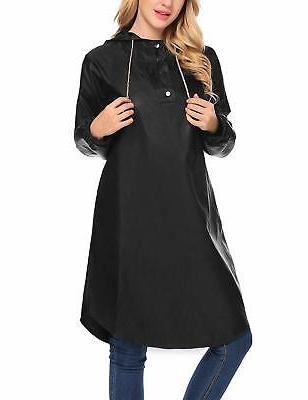 Zeagoo Packable Hooded Long Poncho Rain Jacket