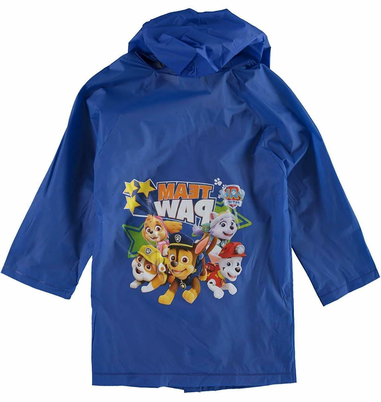 paw patrol boys hooded size rain coat