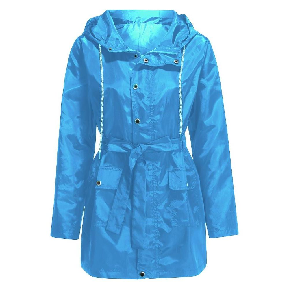 Plus Size Hiking <font><b>Lightweight</b></font> <font><b>Jackets</b></font> Hooded Raincoat Pocket Women Windbreaker Coat For 2019