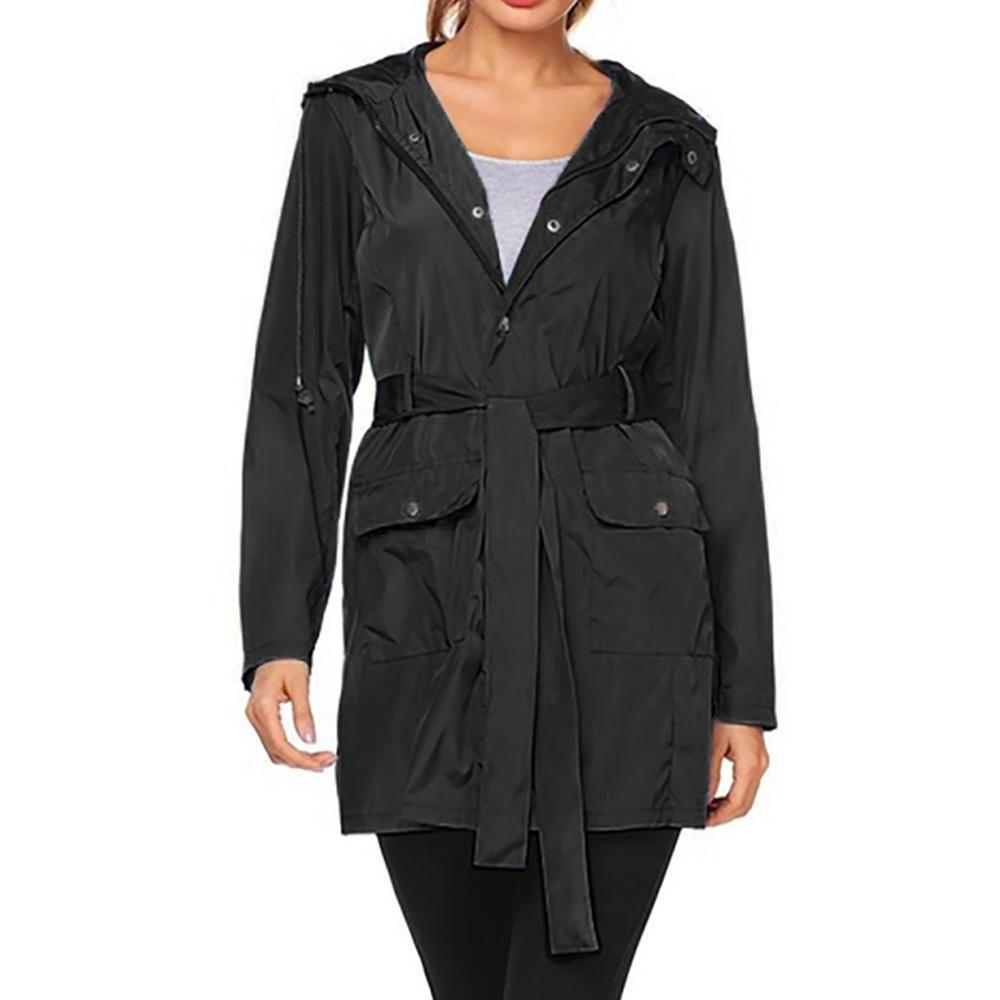 Plus Size Outdoor Hiking <font><b>Jackets</b></font> Hooded Raincoat Pocket Windbreaker For