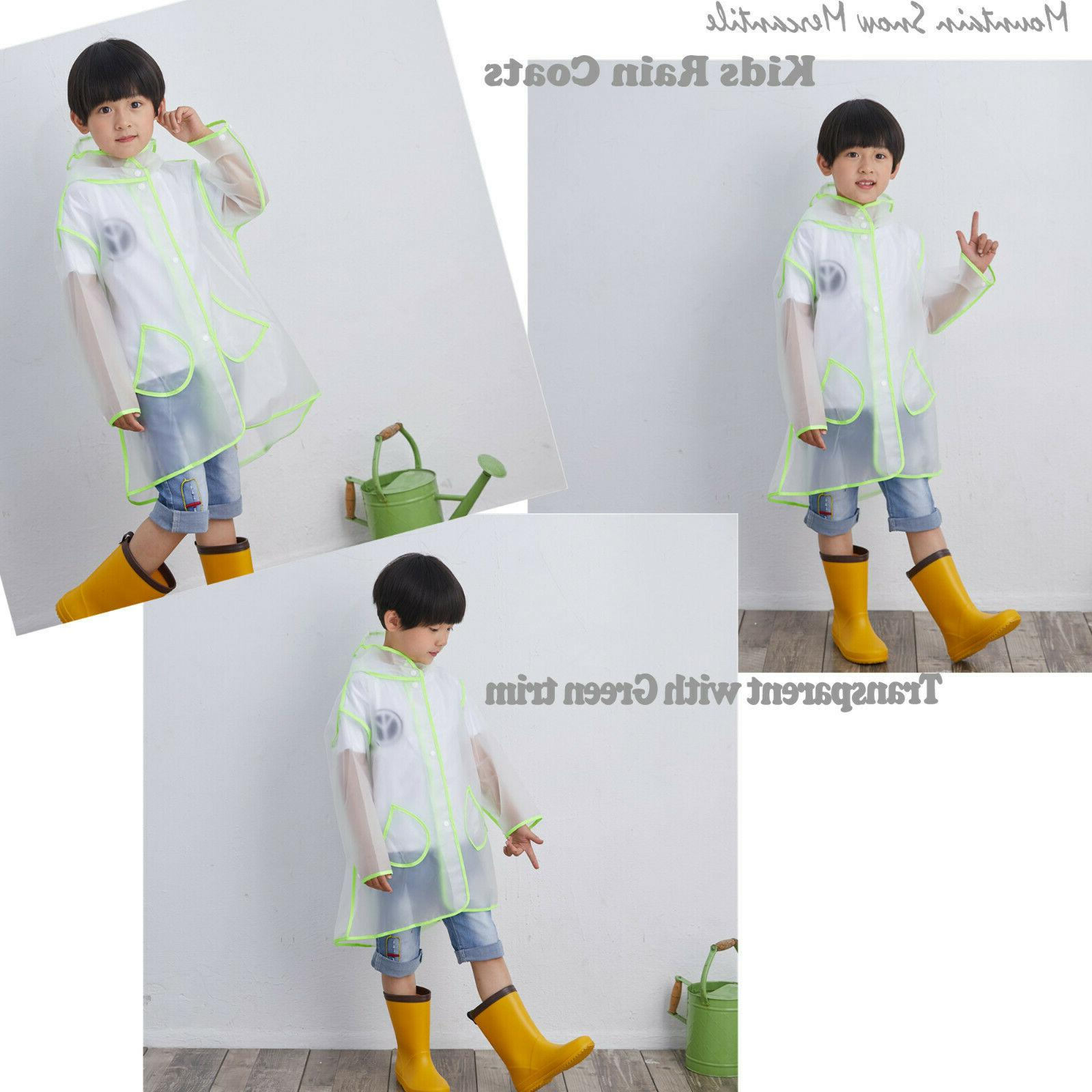 Popular Kids Raincoat Jacket Rain Coats Transparent