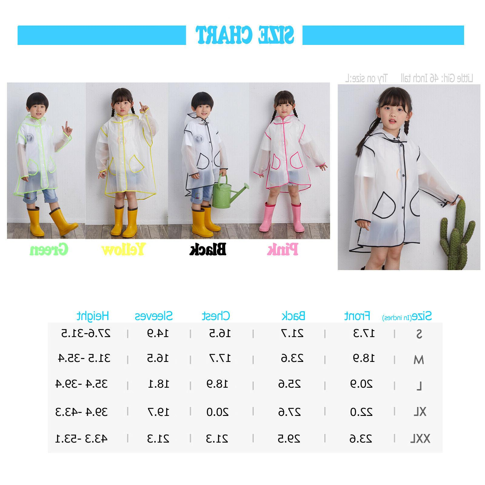 Popular Kids Raincoat Rain Jacket Toddler Rain
