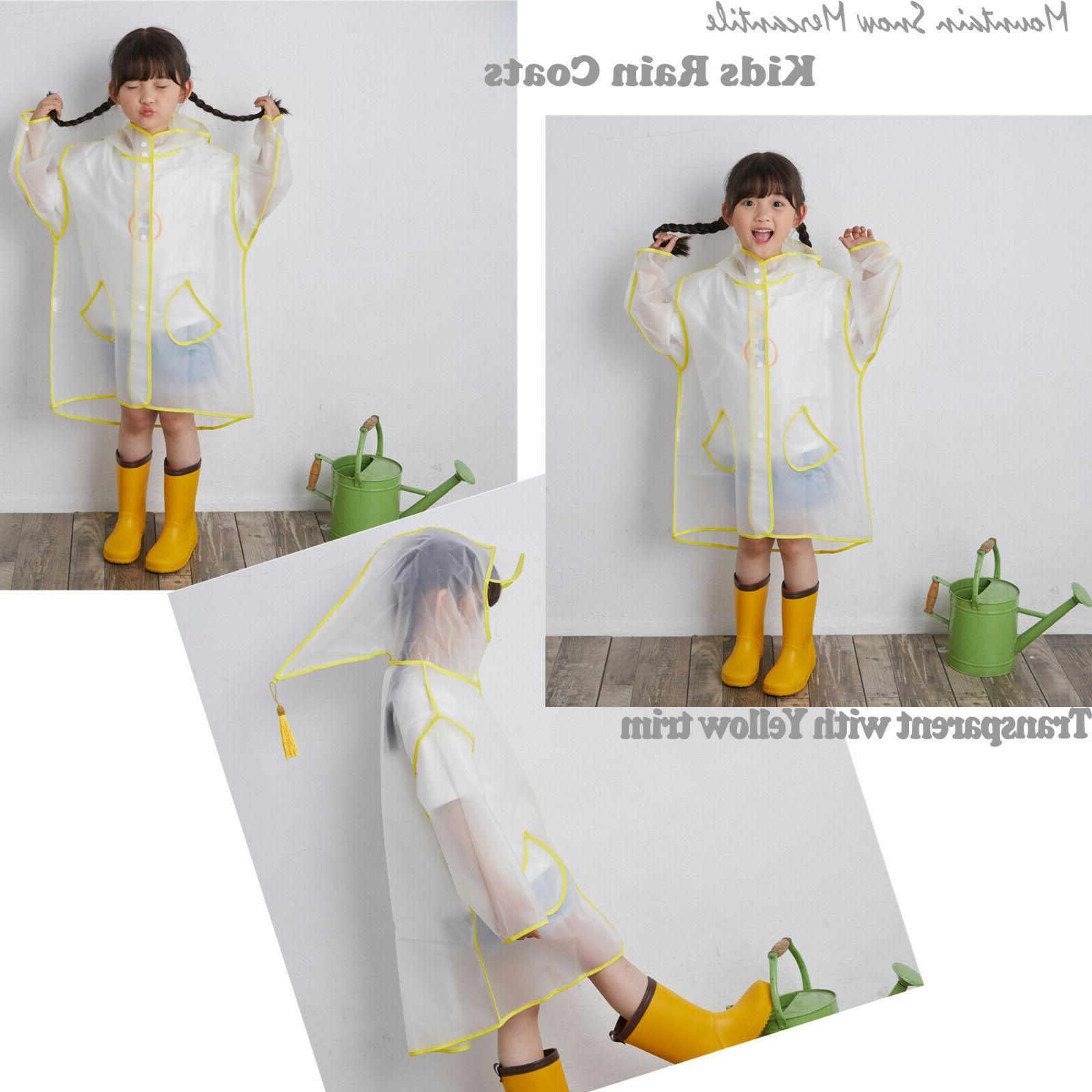 Popular Kids Rain Jacket Coats Transparent