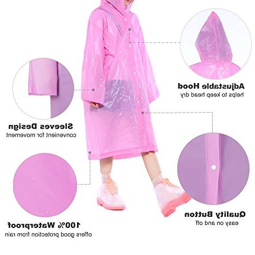 Opret Kids Rain Poncho, with Sleeves, Durable, and Perfect for