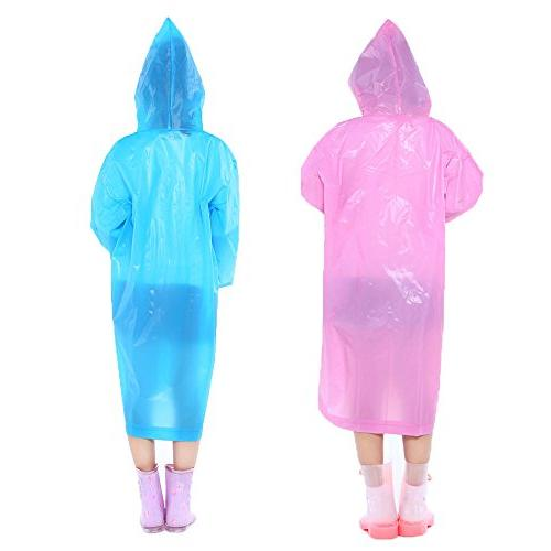Opret Portable Children Rain Poncho, Reusable with Hoods Durable, for Outdoor