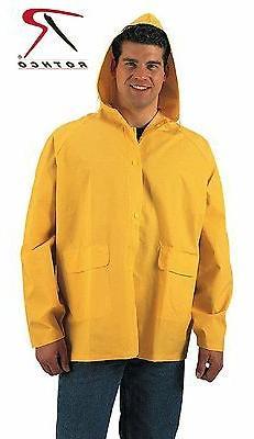 Rothco PVC Rain Jacket - Classic Yellow PVC Rain Coat with D