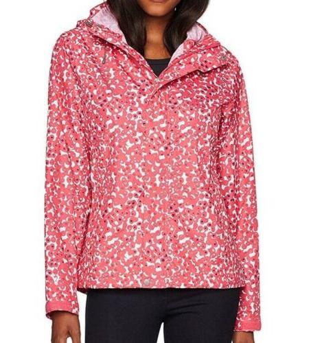 White Sierra Rain Coat Jacket Womens Large Raspberry A26