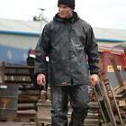 Scruffs Rain Jacket and Waterproof Trousers Black or hi vis
