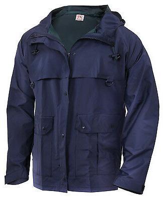 Rain Jacket Navy Blue Tactical Waterproof Microlite Outerwea
