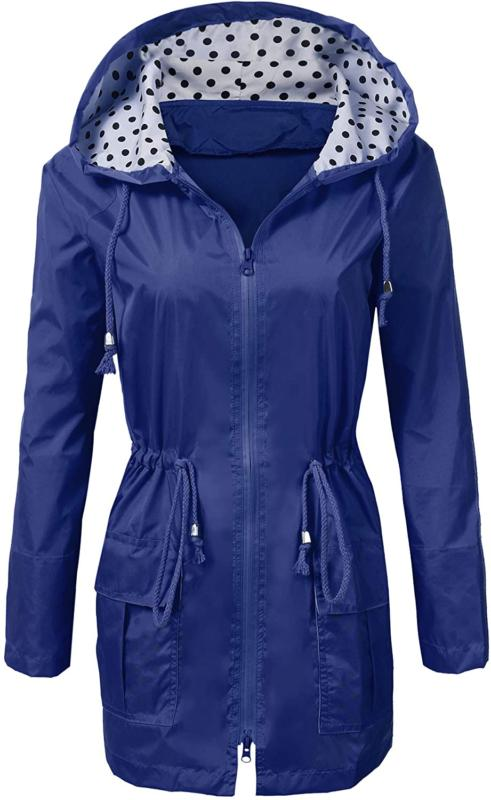 rain jacket women waterproof lightweight hooded active