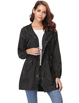 Abollria Rain Jacket Women Waterproof with Hood Lightweight