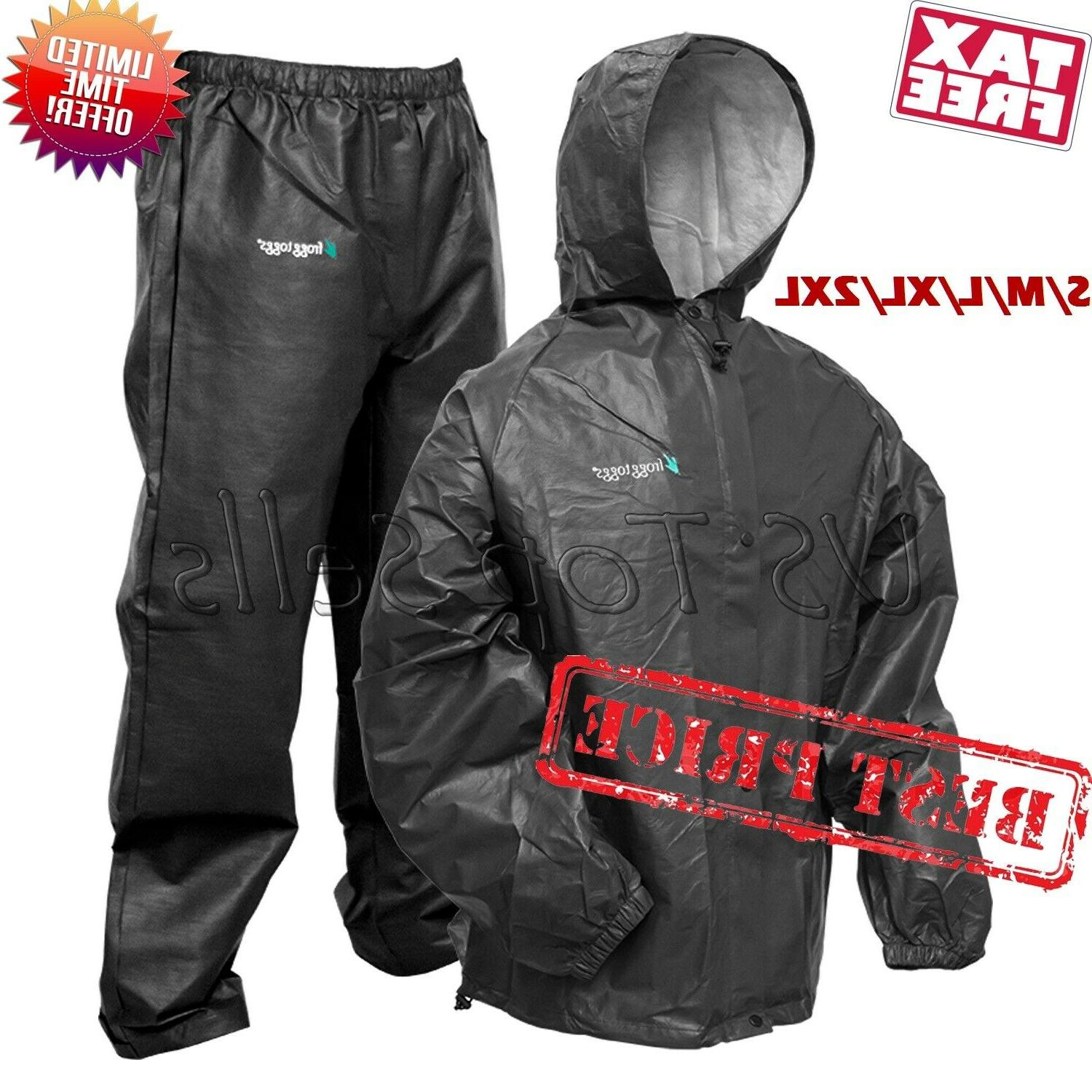 rain suit zippered jacket and pants