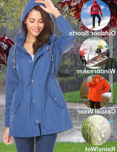 UNibelle Waterproof Rain Jacket Hooded