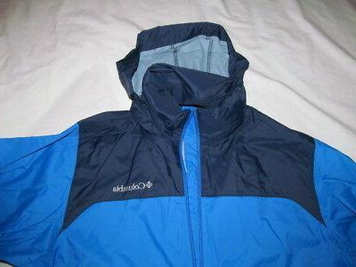 Columbia Falls Rain Hidden man blue jacket Brand New