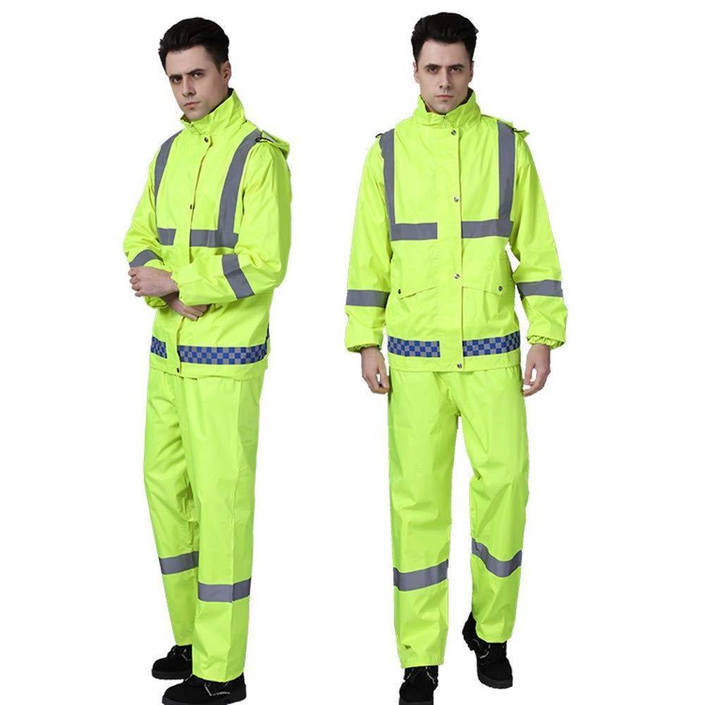 Reflective double layer Rain Jacket Clothing free pants