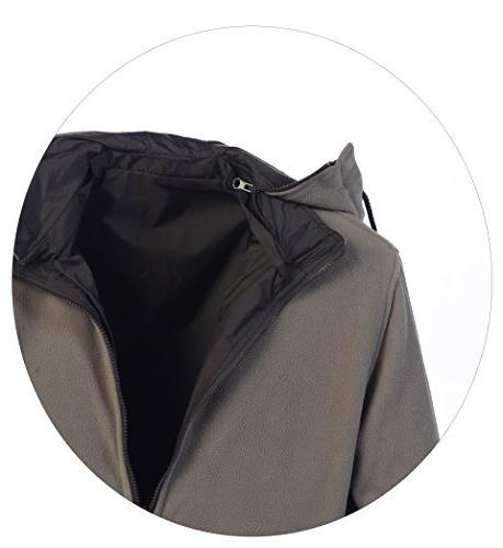 Gioberti Reversible Jacket Polar Lining, Charcoal/Gray, M