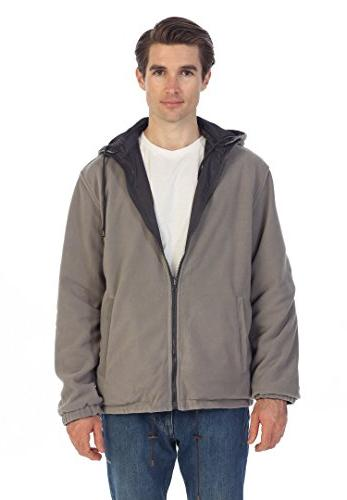 Gioberti Men's Reversible Jacket Lining, Charcoal/Gray, M