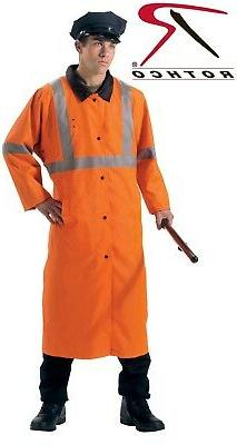 Safety Orange Reversible Reflective Wet Weather Police Secur