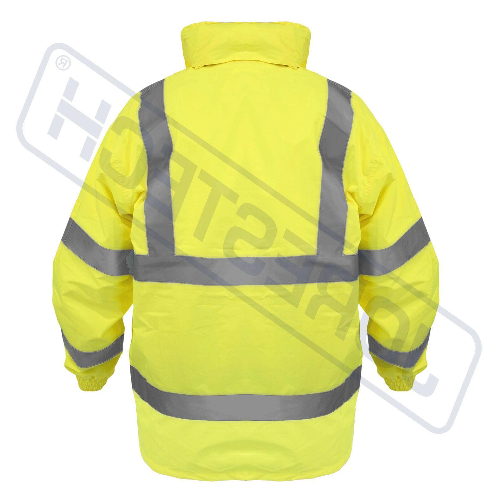 Safety Jacket Green Rainjacket w