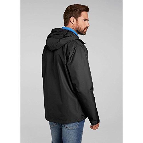 Helly Hansen Men's J Windproof Rain Coat Jacket, Black,