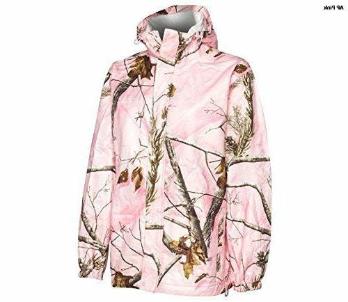 Realtree Storm Seeker AP Pink Camo Zip Up Hoodie Rain Jacket