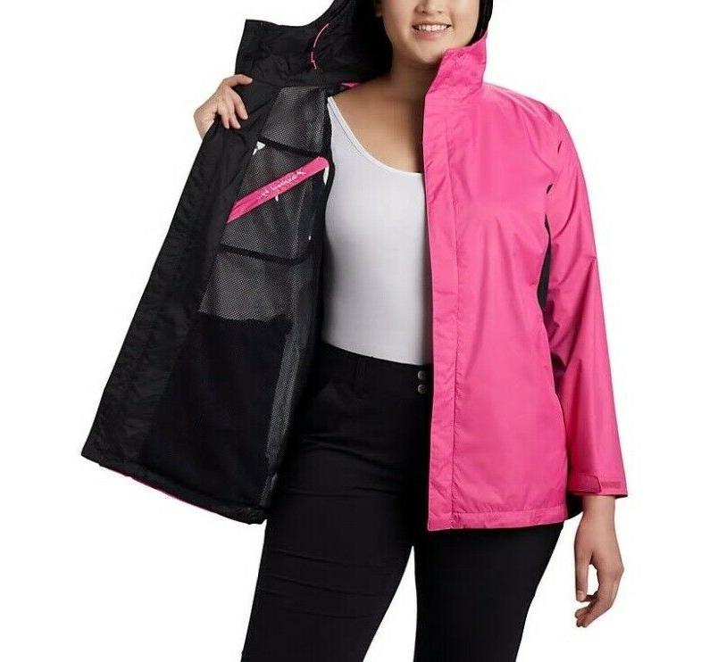 Columbia Tested Pink Hooded Jacket II Women's Plus Size, Sz
