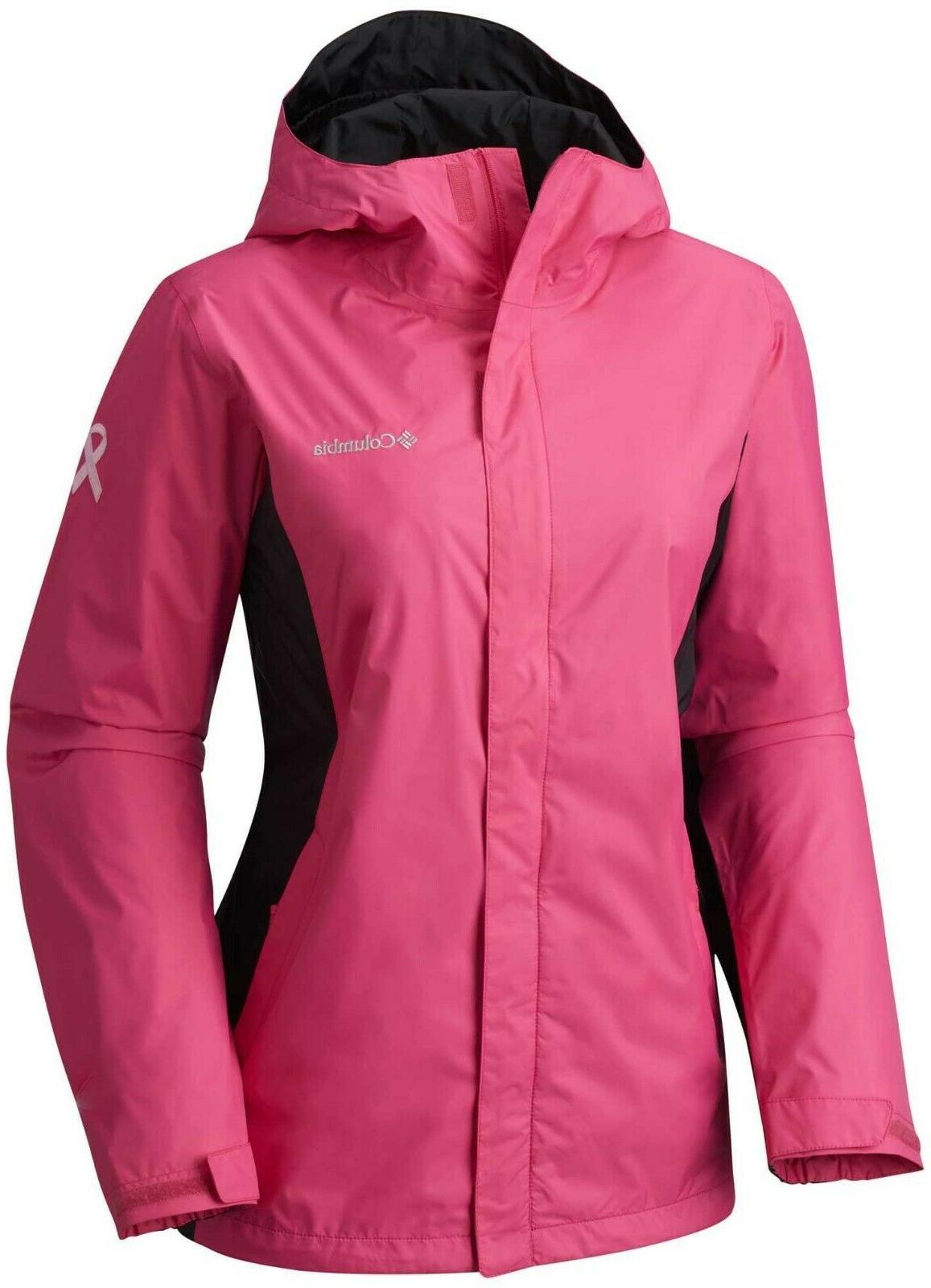Columbia Tested Tough Pink Hooded II Women's Sz 2X, 3X