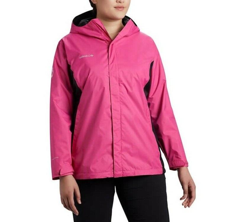 Columbia Tough Pink Rain II Women's Plus Sz 2X, 3X