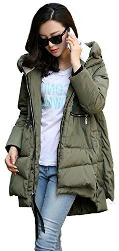 Orolay Women's Thickened Down Jacket Green S