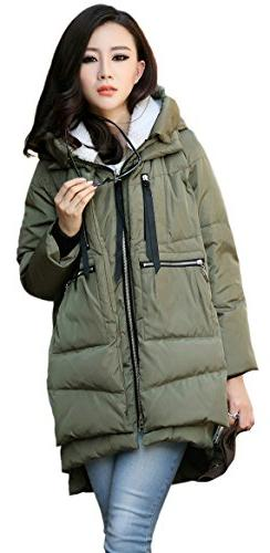 Orolay Women's Thickened Down Jacket Green Xl