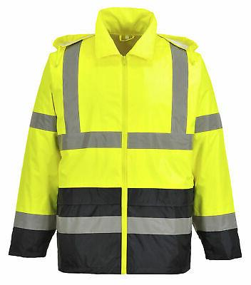 uh443 high vis classic contrast rain jacket