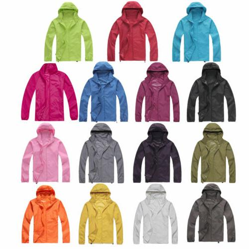 Men Women Waterproof Windproof Jacket Coat Rain Coat Hooded