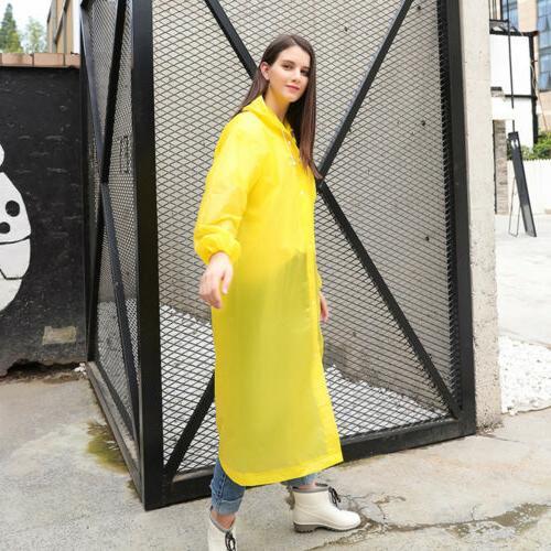 Women Jacket Clear PVC Rain Coat Poncho