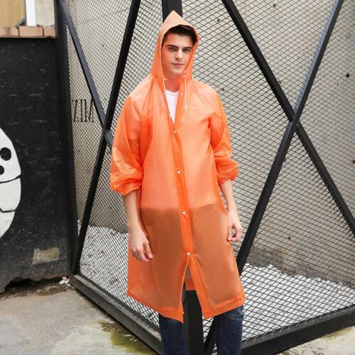 Women Men Jacket Clear Raincoat Coat Hooded Rainwear