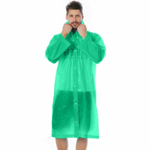 US NEW Men Waterproof Raincoat Rainwear