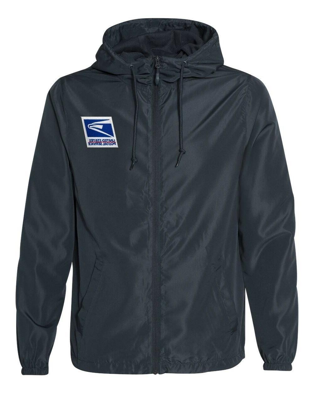 usps postal service windbreaker rain jacket