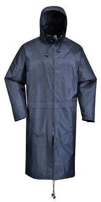Portwest Waterproof Classic Rain Jacket Roll Hood Back Yoke