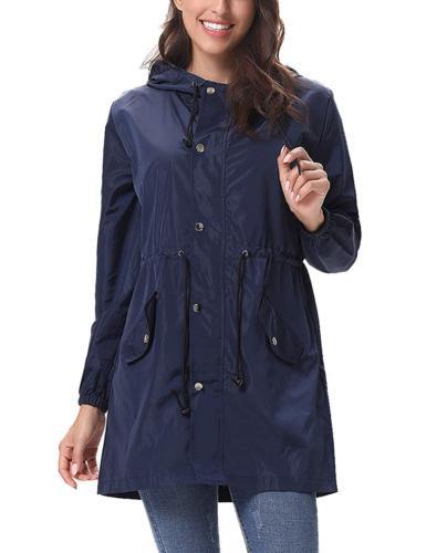 Abollria Rain Jacket Women Waterproof Hood Lightweight Activ