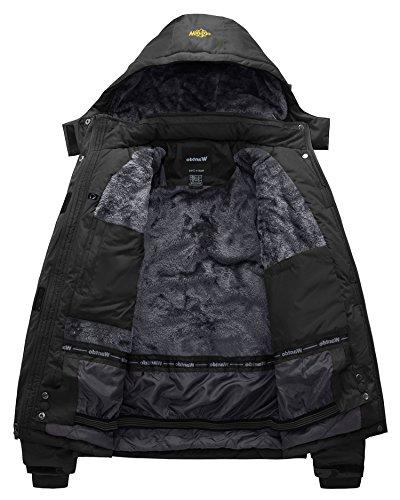 Wantdo Men's Waterproof Jacket Windproof Jacket US S Black S