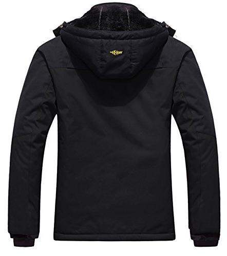 Wantdo Men's Jacket Fleece Jacket Black S