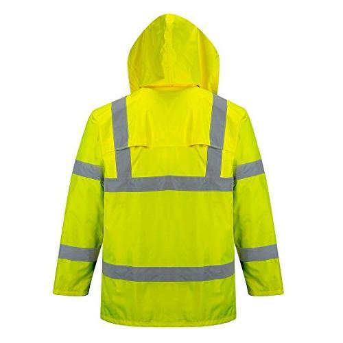 Portwest Waterproof Jacket, Lightweight, Yellow,