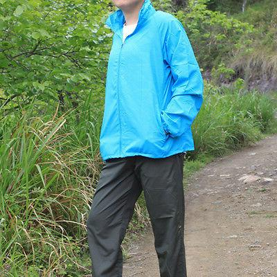 Unisex Windproof Jacket Hooded Coat