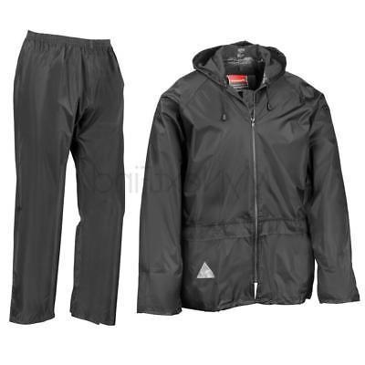 BAG Result Mens Waterproof Windproof Heavyweight Jacket /& Trousers Rain Suit