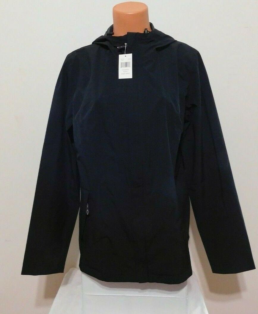 woman s rain jacket black size large