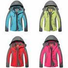 Women Ladies Hooded Outdoor Ski Snow Waterproof Rain Camp Co
