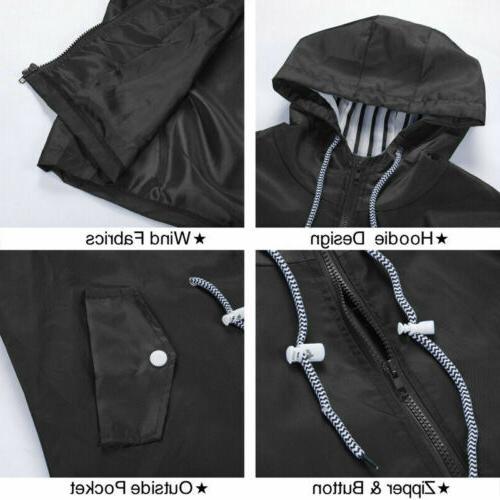Women Waterproof Jacket Rain Mac Outdoor Poncho US